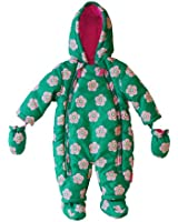 Toby Tiger Baby Girl's Peaflower Snowsuit All-In-One