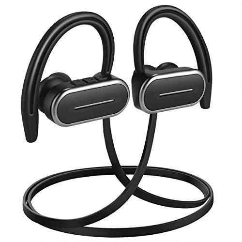 yobola Cuffie Bluetooth, Auricolari Bluetooth 5.0 56h Playtime 3D stereo HD Cuffie wireless con Microfono, Binaurale Call auto Pairing, Auricolari Senza Fili con custodia di ricarica portat