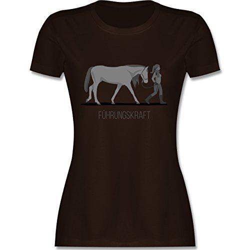 Reitsport - Führungskraft - S - Braun - L191 - Damen Tshirt und Frauen T-Shirt -
