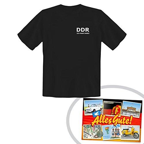 Tshirt DDR ICH WAR DABEI schwarz ++ DAS Ostprodukte Geschenk – DDR Traditionsprodukt und Ossi...