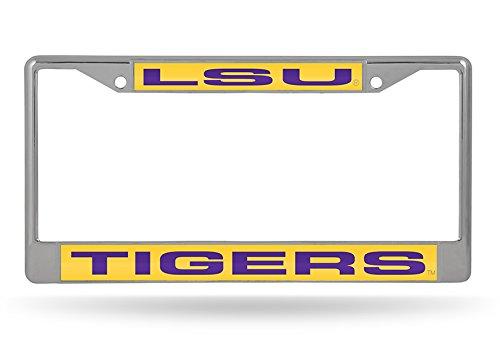 NCAA LSU LSU Laser Chrom Rahmen Sports Fan Automotive Zubehör, Multicolor, One Size Lsu Laser