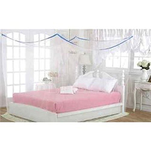 Shahji Creation Double Bed Mosquito Net, Ivory Color (7X7Feet)