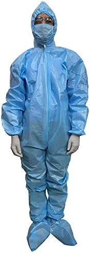 Buildskill B01PPE90B PPE Kit Medical Disposable Reusable Coverall Suits for Ward/Hospital/Laboratory/Factory (