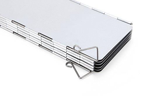 41DsXfLph%2BL - Diswoe Camp Stove Windshield 10 Plates Aluminium Windscreen for BBQ Picnic Camping Equipment
