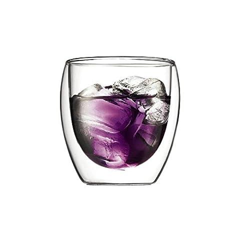 Bodum Pavina 2 Pcs Glass, Double Wall, Small - 0.25