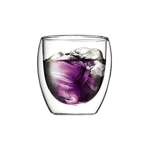 Bodum Pavina 2Stück Glas, doppelwandig, klein-0,25l, 8oz (Pack von 2) (Grill Bodum)