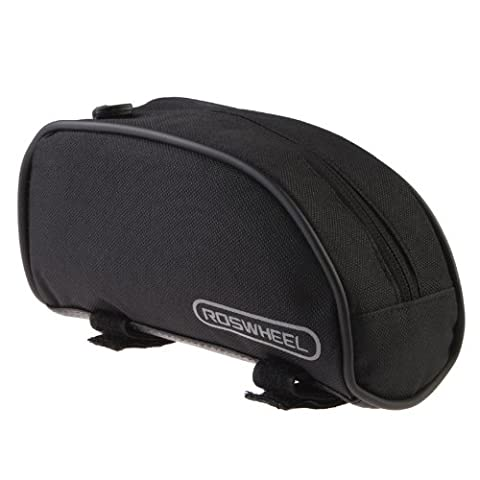 Roswheel Bicycle Cycling Frame Front Top Tube Bag Outdoor Mountain Bike Pouch 1L 12654 (Black)