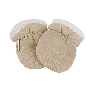 Guantes de invierno unisex para bebés recién nacidos, niños y niñas, antiarañazos, guantes térmicos cálidos de cachemira, 0 – 6 meses 6