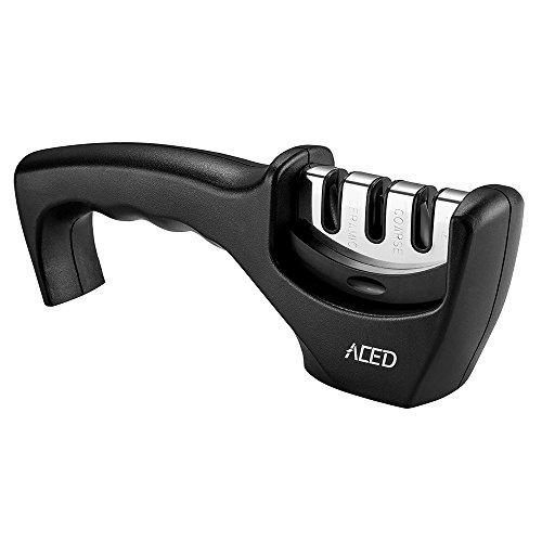 ACED Messerschaerfer Küche Messerschärfer Manuelle Messerschleifer 3 Stufen Messer Schärfen