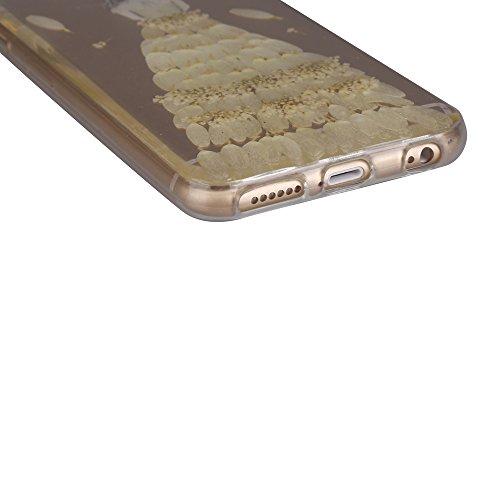 """iPhone 6s Schutzhülle, iPhone 6 Soft TPU Handytasche, CLTPY Modisch Durchsichtige Rückschale im Getrocknete Blumenart, [Stoßdämpfung] & [Kratzfeste] Full Body Case für 4.7"""" Apple iPhone 6/6s + 1 Stylu Floral 31"""