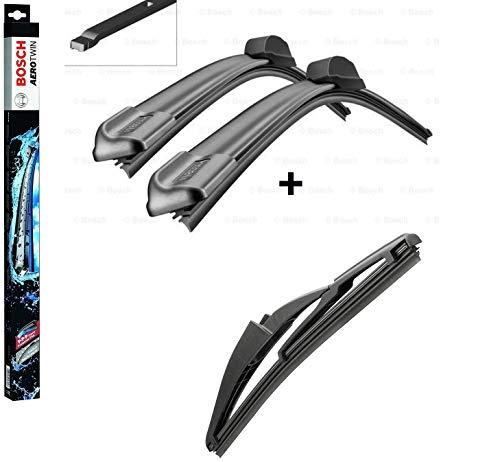 BOSCH Scheibenwischer Set für vorne + hinten Bosch AeroTwin A012S und H230 (3397014095 Längen: 500/360 mm Aufnahme Nr. 7 und 3397004560 Länge: 230 mm) für Smart Forfour [453] NICHT Cabrio o. Coupé!