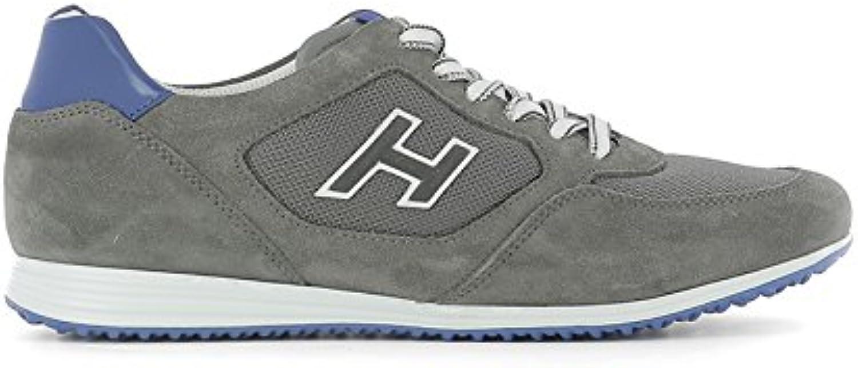 Hogan Hombre HXM2050U670FKB873N Gris Gamuza Zapatillas  -