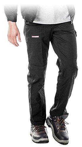 REIS Pantalonei da Lavoro | Lunghi | Uomo | Pantalone per Sicurezza sul Lavoro | Multitasche | Elasticizzati | Leggeri | Estivi | Neri | Taglia 54