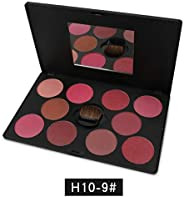 10 Colors Natural Women Makeup Blush Natural Charming Cheek Cosmetic Make Up Blusher Cream Palette Cosmetic Tool