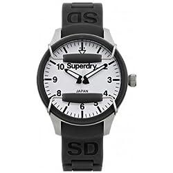 Superdry SYL133B Ladies Scuba Pop Black Silicone Strap Watch
