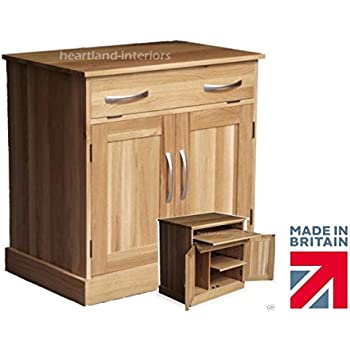 This Item 100% Solid Oak Desk, Drop Down Computer Desk, Workstation,  Hideaway, Hidden Home Office Bureau. Heartland Oak Range, No Flat Packs, ...