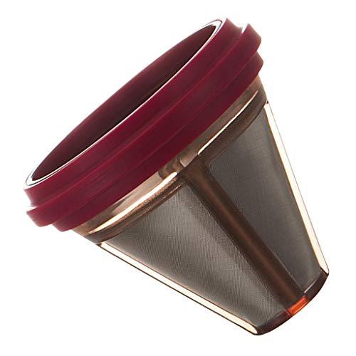 SM SunniMix Kaffee Filter/Teefilter mit Silikongriff aus Edelstahl - rot