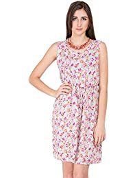 CAY Stylish & Trandy Women's MintGreen Dress with Floral Prints