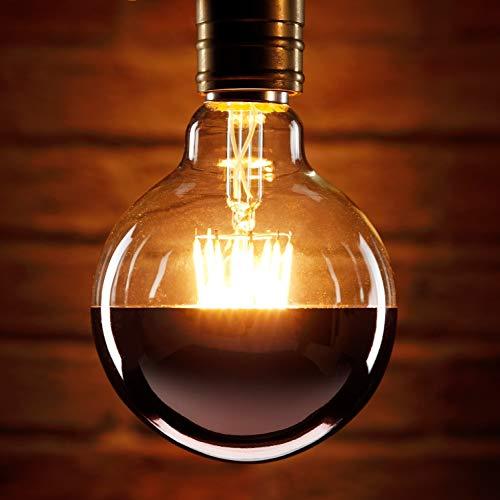 Auraglow Mysa Bombilla LED - Efecto Vintage Decorativo de Filamento con Recubrimiento...