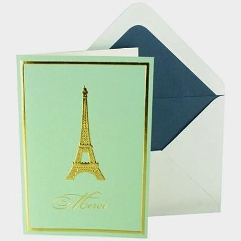 Punch studio Molly e Rex biglietti di ringraziamento 33750Torre Eiffel