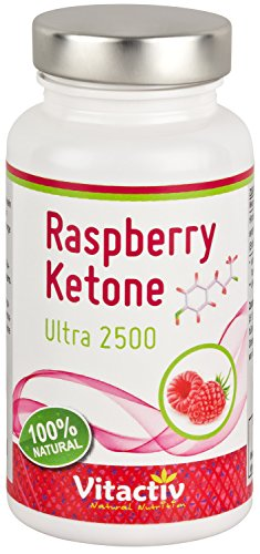 Raspberry Ketone, Ultra hochdosiert 2500mg pro Tagesdosis, der Fatburner Geheimtipp für Diät und Abnehmen*, regt die Fettverbrennung an*, 100{56312e735f6874e2c8ee5fa822d5b2cf463a25c91439318e069ea376101a9161} natürlich aus Himbeeren, 60 Kapseln (Monatspack)