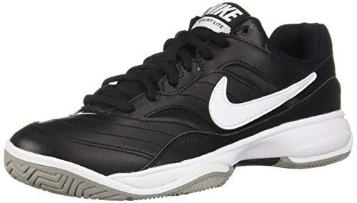 official photos 9adc2 eaf7c Nike Men s Court LITE Tennis Shoes, (Black White Medium Grey 010)