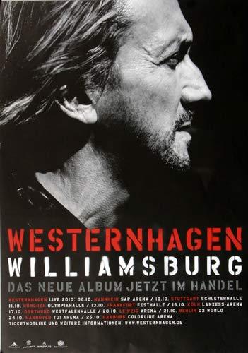 Premium Poster/Plakat | DIN A1 | Live Konzert Veranstaltung » Westernhagen M.M. - Williamsburg, Tour 2010 «