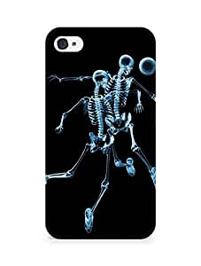 AMEZ Skeleton Back Cover For Apple iPhone 4
