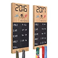 Pushka Home Wooden Personalised PB Medal Chalkboard Wall Display. Medal Holder Display.