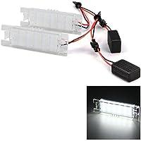 WINOMO Par de lámparas de luz de matrícula LED 12V para Opel Astra J Cascada Corsa