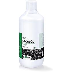GreenPet Omega 3-Lachsöl 1 Liter reines Naturprodukt für Hunde, Katzen und Pferde - kaltgepresst Barf Ergänzung