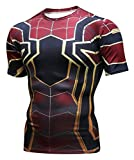 PIZOFF Unisex 3D Druck Kurzarm T-Shirt Muskelshirt Superhero Kampfanzug Spiderman AC109-08-M