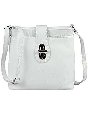 OBC ital. echt Leder Schultertasche Tasche City Bag CrossOver Umhängetasche 23x20x8 cm (BxHxT)