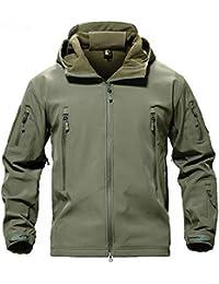 MAZF Giacca da Caccia Outdoor Softshell Impermeabile Giacca da Pesca  Antivento Cappotto da Sci Escursionismo Pioggia 44e5f84fadb