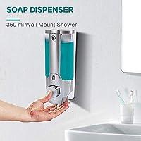 Sevia Liquid Soap Dispenser, Wall Mounted Liquid Soap, Lotion, Shampoo Dispenser - One Touch - Mirror Polish Chrome ABS (Plastic) 350 Ml
