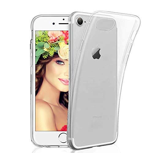 BHJDYDG Hülle für iPhone 7 Handyhülle für iPhone 8 Silikon Crystal Clear Durchsichtig Schutzhülle Kompatibel mit iPhone 8 7 Transparent TPU Stoßfest Anti-Kratz Anti-Fingerabdruck Case Crystal Clear -