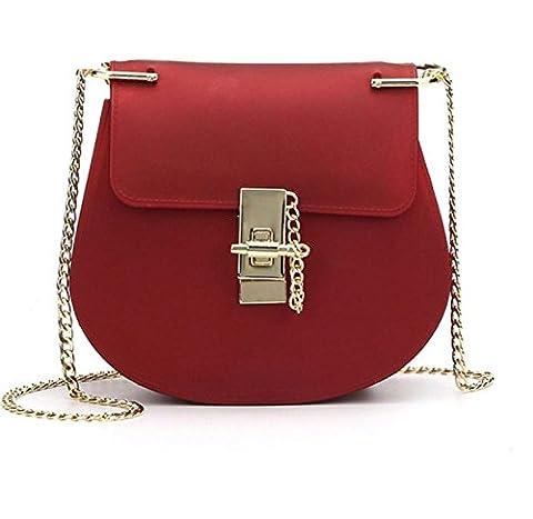 Nouveau Matte Matte Small Square Bag Ensemble Chaîne Jelly Bag Shoulder Bag Handbags,Red-OneSize