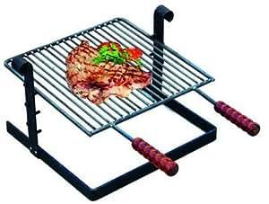 Griglia per barbecue in ferro battuto con manici in legno for Panchina ferro battuto amazon