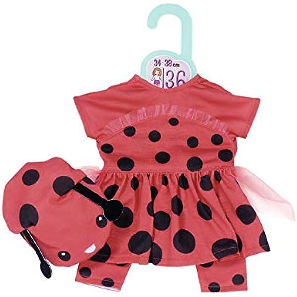 Dolly Moda Süßes Marienkäfer Outfit 43cm