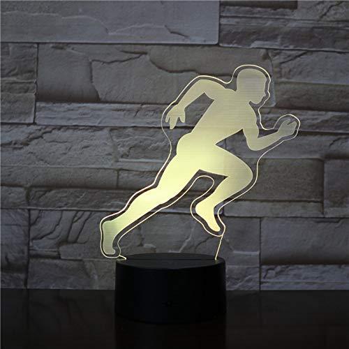 BFMBCHDJ MÄNNLICHE Männer LÄUFER 3D Led Nachtlicht Touch Sensor Dekorative Lampe Kind Kinder Baby Kit Nachtlicht 3D Lampe Decor Fly Sport Geschenk