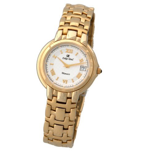 Oskar Emil Monaco Gold Plated Stainless Steel Gents Watch with Date