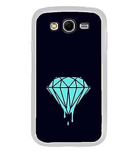 Fuson Designer Back Case Cover for Samsung Galaxy Grand 2 :: Samsung Galaxy Grand 2 G7105 :: Samsung Galaxy Grand 2 G7102 :: Samsung Galaxy Grand Ii (Diamond Blue diamond Rare Diamond Blue Black)