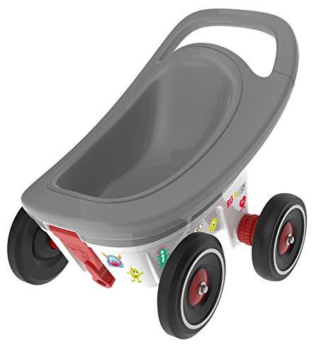BIG Spielwarenfabrik 8000562 - BIG Buggy 3-in-1 Multifunktions-Anhänger und Lauflernwagen, ab 1 Jahr, verstellbare Bremsfunktion