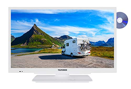 Telefunken XH24G101VD-W 61 cm (24 Zoll) Fernseher (HD-ready, Triple Tuner, DVD-Player integriert, 12 Volt) (Zoll Mit 24 Dvd Tv)