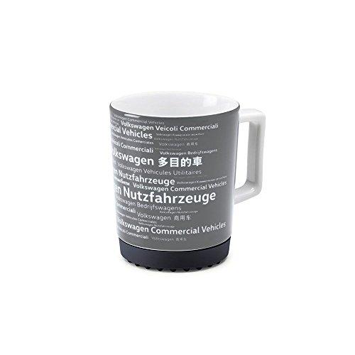 Original Volkswagen Becher Kaffeebecher Nutzfahrzeuge Transporter Bulli Crafter Porzellan Tasse grau 7E0069601A