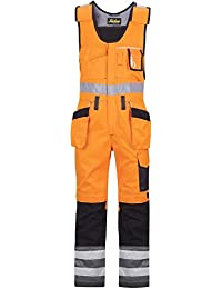 "Snickers 2135574096 Size 96 Class 2"" High-Vis Trousers - Orange/Muted Black"