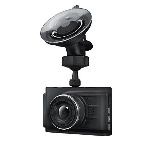 Aplic - Dashcam HD | Telecamera da cruscotto HD, incluso cavo per carica da accendisigari | Telecamera per incidenti automobilistici / Car Dash Cam | inclusa ventosa + USB tipo A per cavo miniUSB