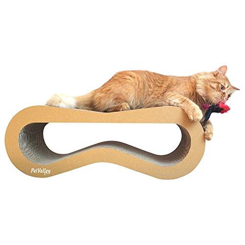 Petvalley tiragraffi per gatti prodotto di design in cartone ondulato made in italy, ideale come cuccia, palestra e graffiatoio. completamente riciclabile