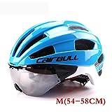 Männer/Frauen Erwachsene Fahrradhelm Racing Zeitfahrhelm Mit Brille Ultraleicht EPS + PC M L 54-62 cm Fahrrad Objektiv Helme