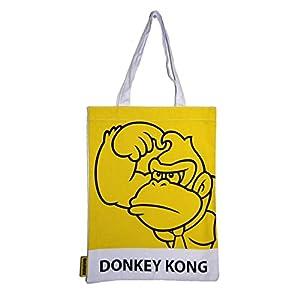 SUPER MARIO 2DBAGDONKEY 2D Retro Art Donkey Kong Bolsa de Compras
